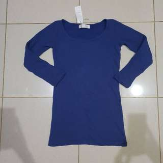 BLUE LONGSLEEVE TOP TOKYO FASHION ( NEW WITH TAG )