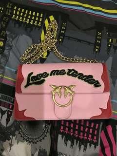 💯Authentic Original PINKO Love Me Tender Chain Bag