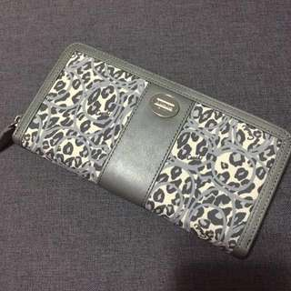 COACH - leopard with logo printed long zip wallet