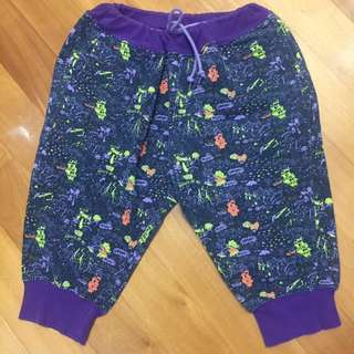 D-mop - neon graphics print pants