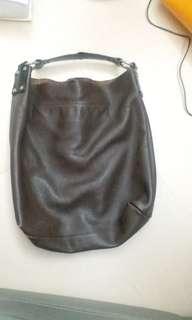 購自連卡佛 Lane Crawford Made in Italy 深啡色 真皮 Handbag