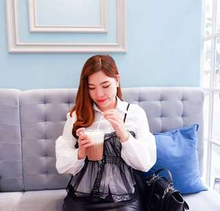 Korean 2pcs blouse