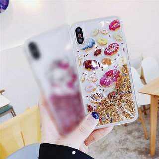 Doughnut Glitter Case Iphone 6+/6s+/7+/8+