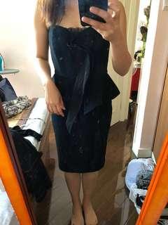 JayGofrey metallic one piece cocktail dress