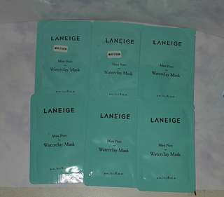 Laneige Mini Pore Water Clay Mask x 6  包郵 By mail only 礦物泥面膜