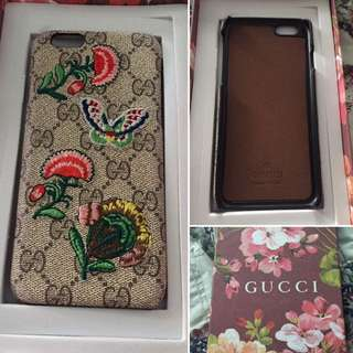 Gucci embroidered case 6/6s