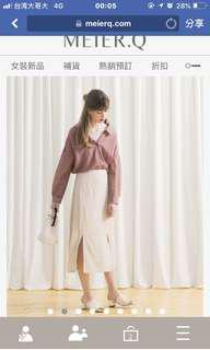🚚 Meierq棉麻襯衫藕紫色