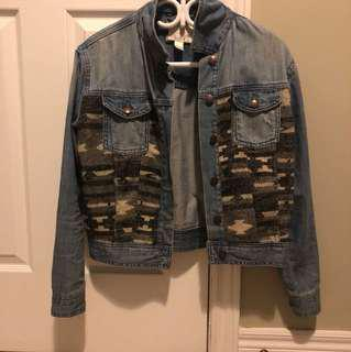 Forever 21 Jean Army Jacket