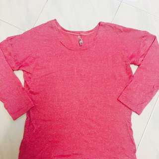 Loose sparkling long sleeve