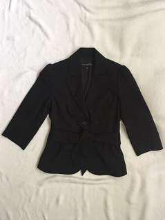Banana Republic Black Belted Blazer