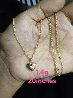 ONHAND! 1.4g SD GOLD NECKLACE