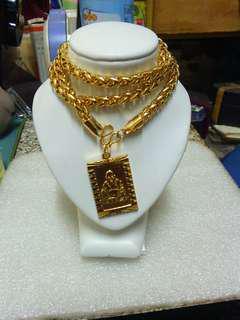 電鍍18k金個性項鍊(彌勒佛) Plating 18k gold