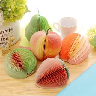 🚚 READY STOCKS! FRUITS MEMO PAD OR POST IT PAD @ $1.20 per pc only!!!