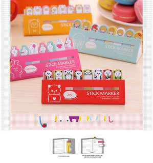 🚚 Children's Day Gifts $1 & below!!! CUTE ANIMAL STICK MARKERS / POST ITS @ $1 per set only!!!
