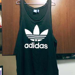 🚚 正品Adidas 愛迪達  長板背心 黑 L