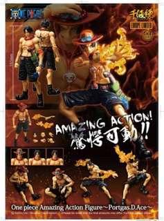 全新未開封 (雪梨紙未拆) 千值練 海賊王 One Piece  火拳 艾斯 Ace 約16.5cm 高