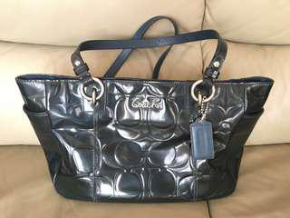 Coach Patent Leather Embossed Tote