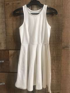 Offwhite Halter Skater Dress