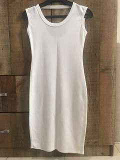 Offwhite Bodycon Dress