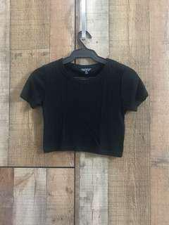 Topshop Cropped Shirt