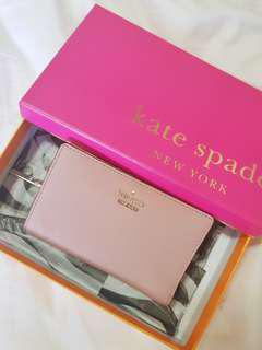 Kate Spade Cara Newburry Lane wallet in dusty pink