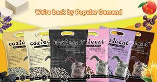 (6 bags promo) Cozie Cat Tofu Litter 7L
