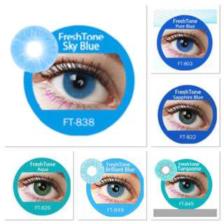 Blue shades of contacts