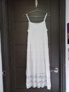 White Dress 襯衫 吊帶白長裙