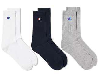 🚚 3 PAIRS Champion Logo Socks Crew