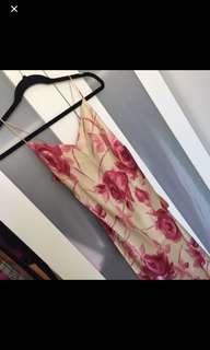 Maxi Full silk floral dress