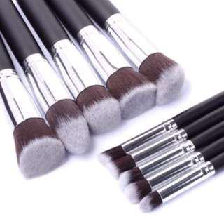 10 pcs kabuki brush