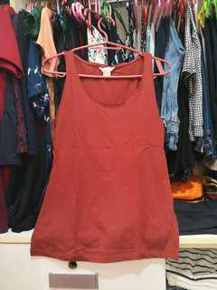 FOREVER21 Brown red sleeveless top