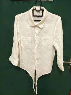 Fast Fish L 165/88A white long sleeve shirt