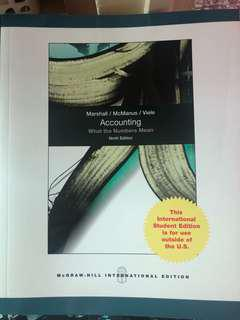 Accounting What the numbers mean 9th edition