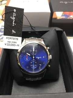 全新 Agnes b 錶 鋼錶帶 男女合用