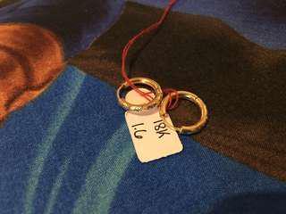 Authentic Saudi Gold loop earrings