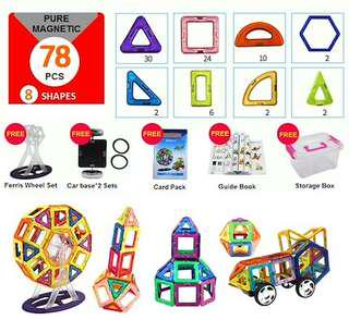 🚚 Magnetix / Magwisdom / MagneticToy /MagBuilder / Magnefun / MagPieces