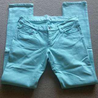 Lindy - 28/32 Mint Skinny Jeans
