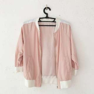 Pastel Peach / Pink Bomber Jacket