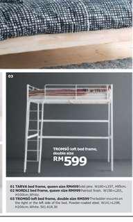 TROSMO (IKEA) Loft Bed Frame - Double Sized