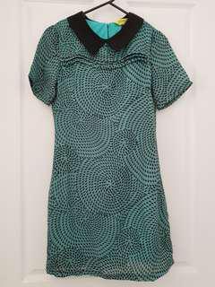 Asos collared print dress