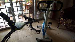 Spinning Bicycle & Abs Cruncher Equipments