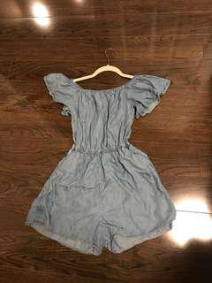 Size S - tencel/chambray material romper