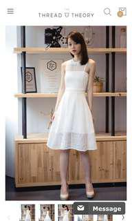 🚚 Thread Theory Rhombus Columbus Midi Dress (white)