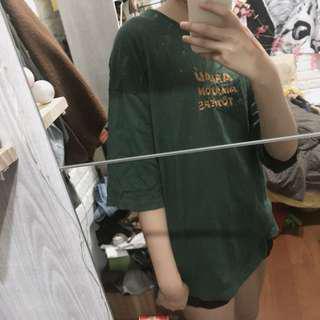 🚚 Oversize 綠色 短袖