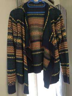 Cardigan bahan sweater