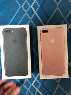 Empty iPhone 7 Plus boxes