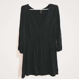 H&M black dress top