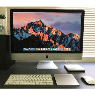 27 iMac i7 4GB Graphic 1TB SSD Turbo 3.9GHz 16GB M'Office and CS6