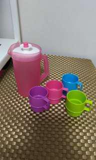 Tupperware mini jug and cup